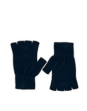 ASOS Navy Fingerless Gloves