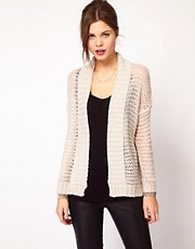 Warehouse Metallic Cable Cardigan
