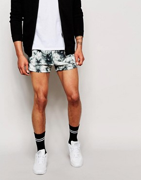 ASOS Jersey Shorts In Extreme Short Length With Print