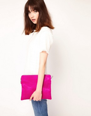 Image 3 ofJas MB Leather Clutch Bag