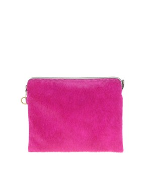 Image 1 ofJas MB Leather Clutch Bag