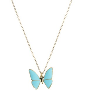 Image 1 ofCath Kidston Butterfly Necklace