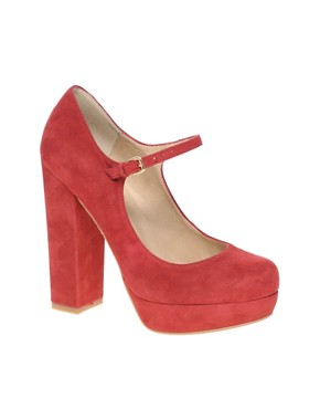 Image 1 ofDune Hockey Platform Block Heel Mary Jane Shoes