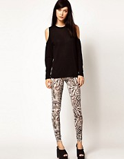 Emma Cook Leggings in Snake Print Silk Mix Jersey