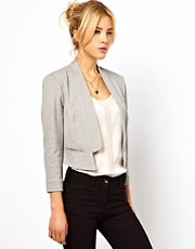 ASOS &ndash; Blazer mit Ponte-Karomuster und eingekerbtem Revers