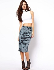 ASOS Pencil Skirt in Tie Dye