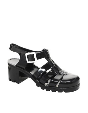 Image 1 ofJuju Babe Black Heeled Sandals