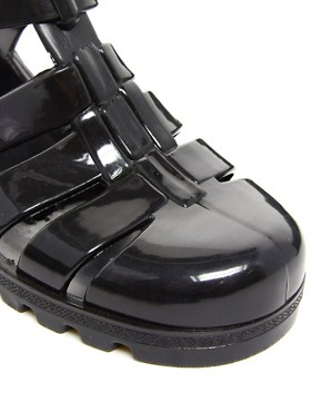 Image 2 ofJuju Babe Black Heeled Sandals