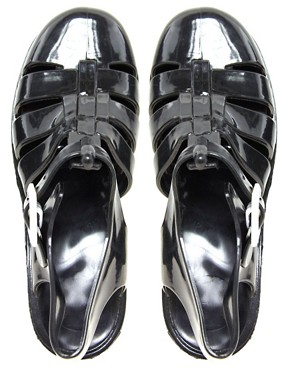 Image 4 ofJuju Babe Black Heeled Sandals