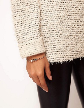 Image 3 ofASOS Spike Pearl Skinny Bangle
