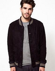 Edwin Leather Jacket Homerun Varsity