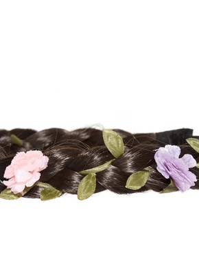Image 3 ofRiver Island Braided Headband With Pink Flowers