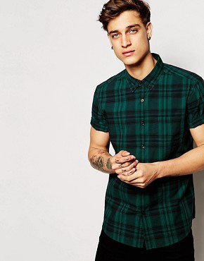 ASOS Shirt In Short Sleeve With Check