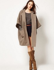 Surface To Air Duffle Cape Coat