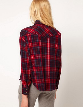 Image 2 ofLnA Cropped Flannel Shirt