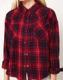 Image 3 ofLnA Cropped Flannel Shirt