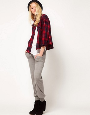 Image 4 ofLnA Cropped Flannel Shirt