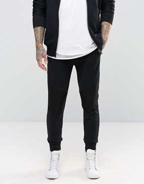 Diesel P-Soul Sweat Pants Mesh Knee