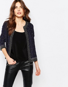 French Connection Madeline Mosaic Embellished Jacket
