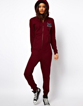 Image 4 ofASOS Onesie with Varsity detail