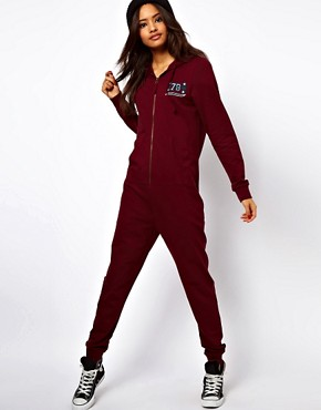 Image 1 ofASOS Onesie with Varsity detail