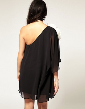 Image 2 ofASOS CURVE Huge Corsage Chiffon Dress