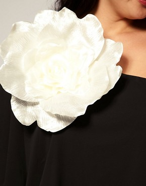 Image 3 ofASOS CURVE Huge Corsage Chiffon Dress