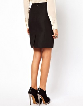 Image 2 ofOasis Pencil Skirt With Eyelet Detailing