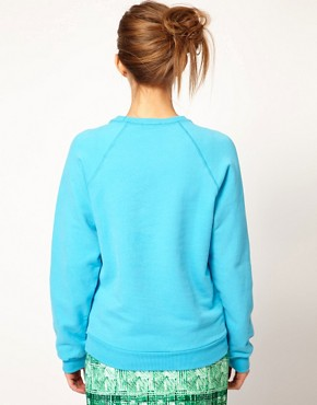Image 2 ofPeter Jensen College Sweatshirt in Brushed Cotton
