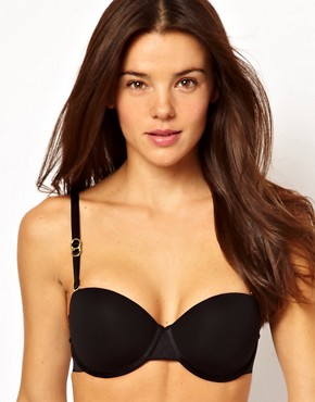 Stella McCartney Stella Smooth Black Strapless Bra