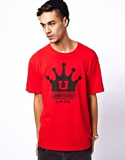 Undefeated T-Shirt Boxing Crown Print