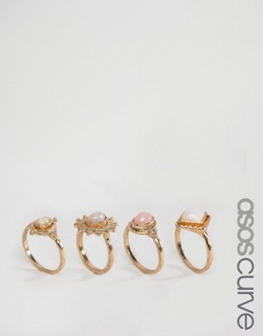 ASOS CURVE Boho Girl Stack Rings