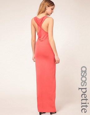 Image 1 ofASOS PETITE Exclusive Maxi Dress With Twist Back