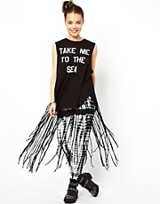Wildfox To The Sea Fringed Poncho