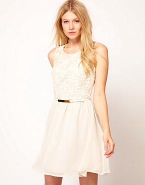 Image 1 ofOasis Daisy Lace Bodice Dress