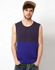 ASOS Sleeveless T-Shirt With Cut And Sew