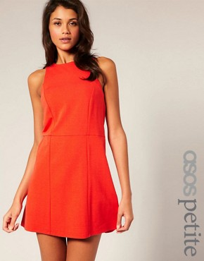 Image 1 ofASOS PETITE Clean Shift Dress