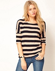 Oasis Drop Sleeve Stripe T-Shirt