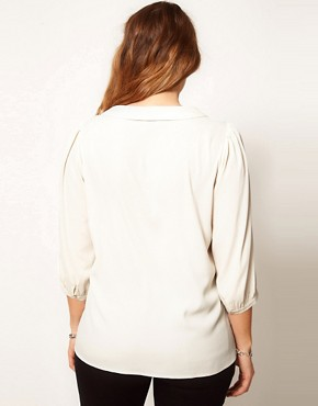 Image 2 ofASOS CURVE Exclusive Blouse With Lace
