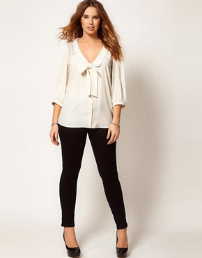 Image 4 ofASOS CURVE Exclusive Blouse With Lace