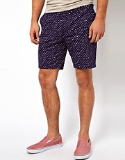 Farah Vintage Chino Shorts with All Over Print