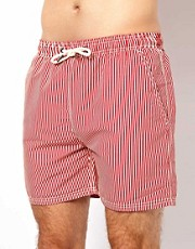 River Island Ticking Stripe Swim Shorts