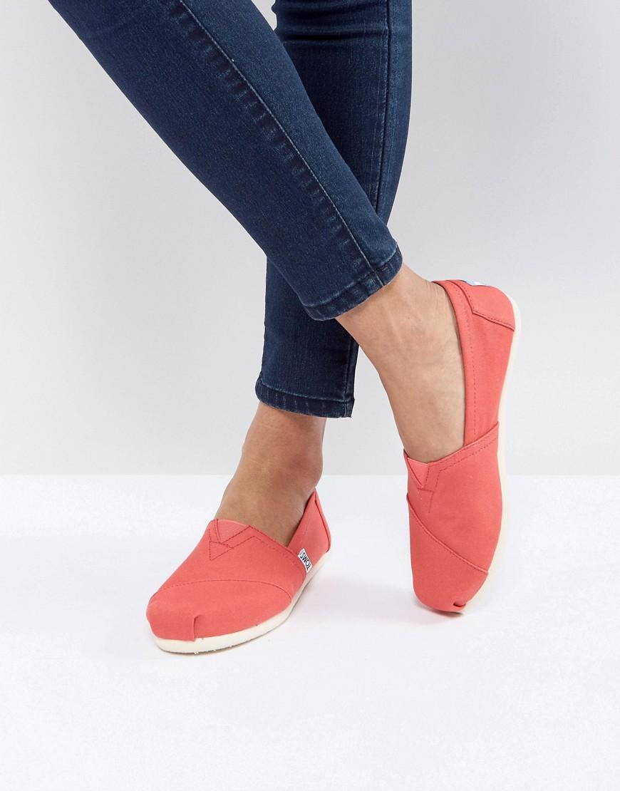 Imagen principal de producto de Alpargatas de lona color coral de TOMS - Toms