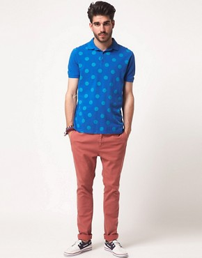 Image 4 ofASOS Polo With Large Polka Dot Print