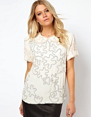 ASOS Blouse With Pretty Ribbon Applique