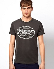 Jack &amp; Jones T-Shirt with Speedway Print