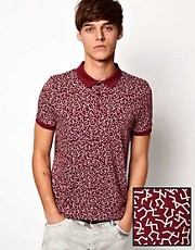 ASOS Polo With Running Man Print