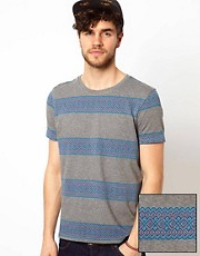 ASOS Stripe T-Shirt With Jacquard Design