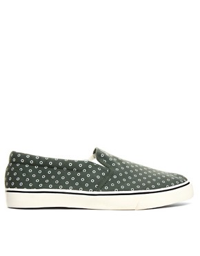 Image 4 ofASOS Slip On Plimsolls With Circle Print