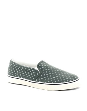 Image 1 ofASOS Slip On Plimsolls With Circle Print